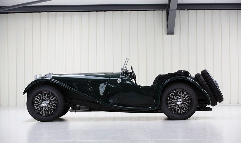 Seitenansicht des SS 100 Jaguar