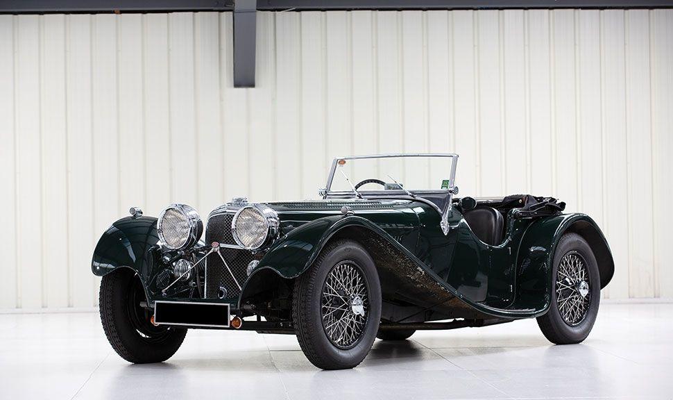 Front und Seite des SS 100 Jaguar
