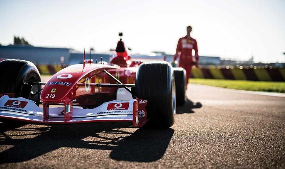 Ferrari F2002 auf der Rennstrecke