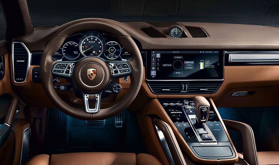 Innenraum des Porsche Cayenne Coupé S E-Hybrid