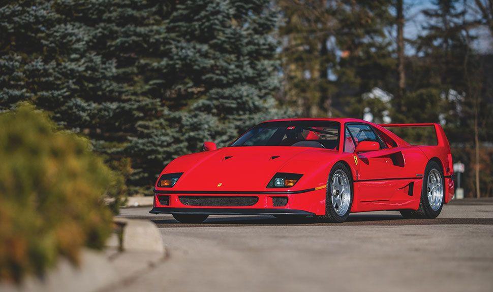 Ferrari F40 Front und Seite
