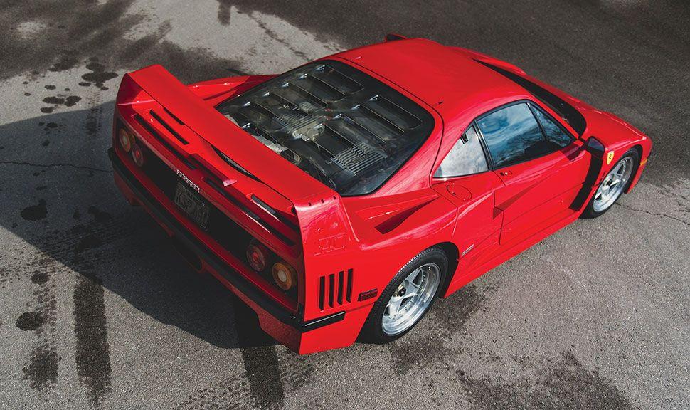 Ferrari F40 von oben