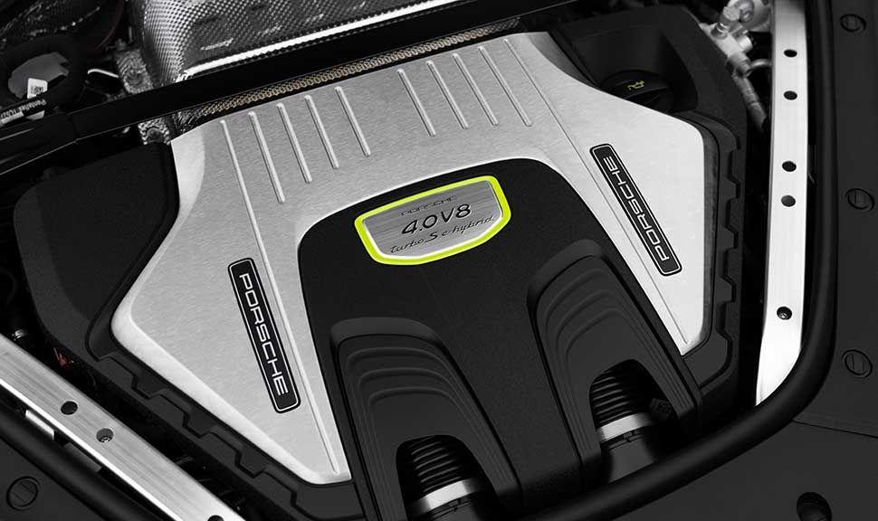 Motor des Panamera Turbo S E-Hybrid.