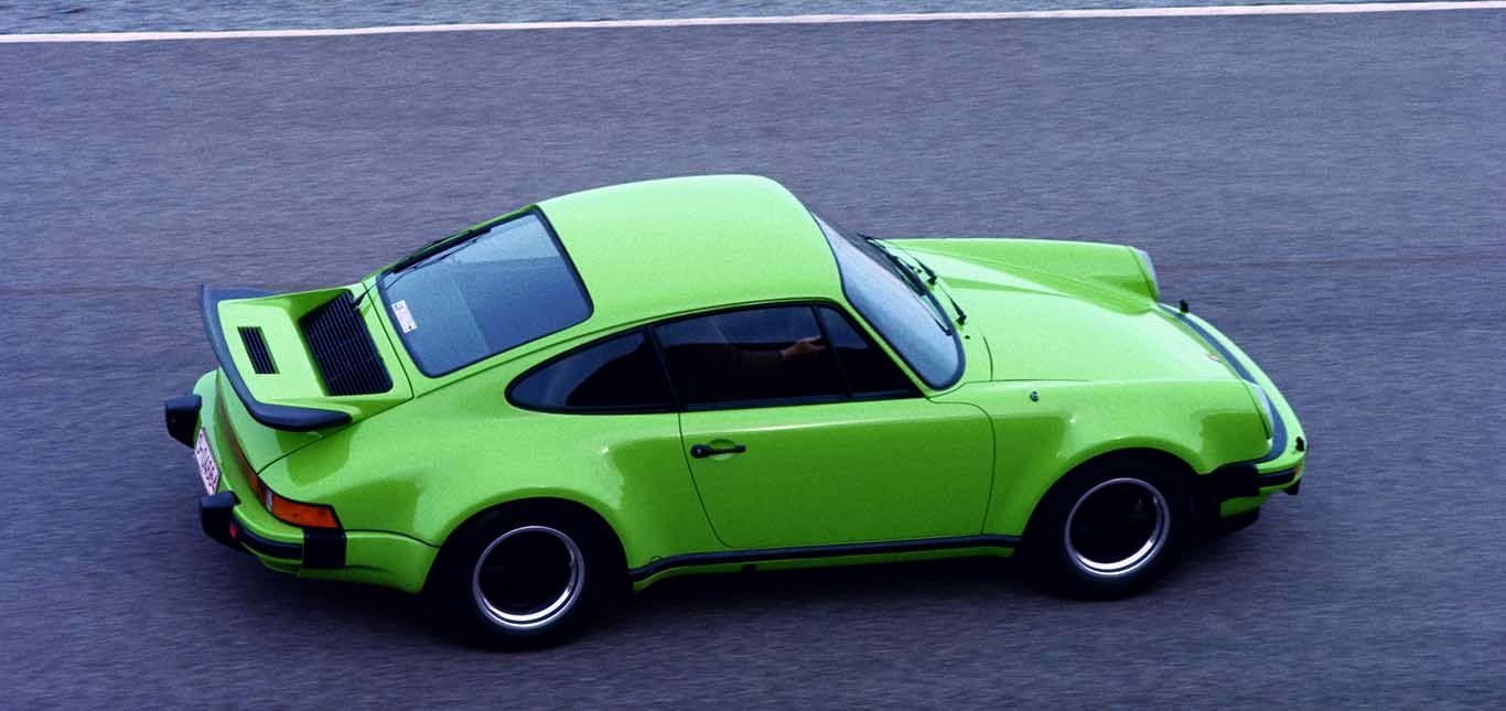 Seitenansicht des Porsche 911 Turbo 1974