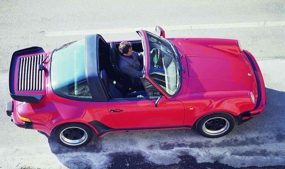 Seitenansicht eines Porsche 911 Targa