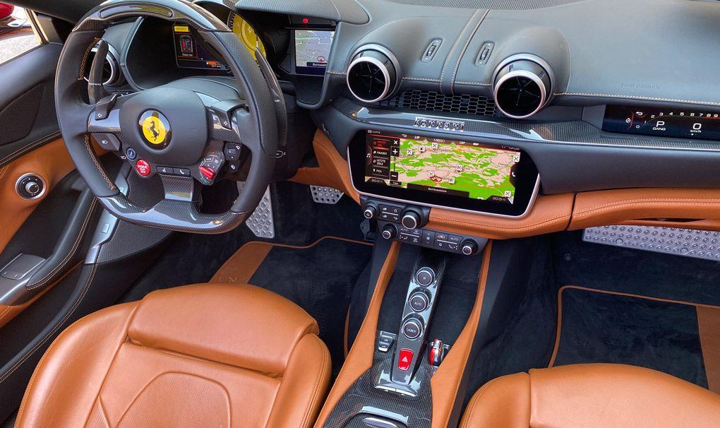 Ferrari Portofino M, Innenansicht, Cockpit