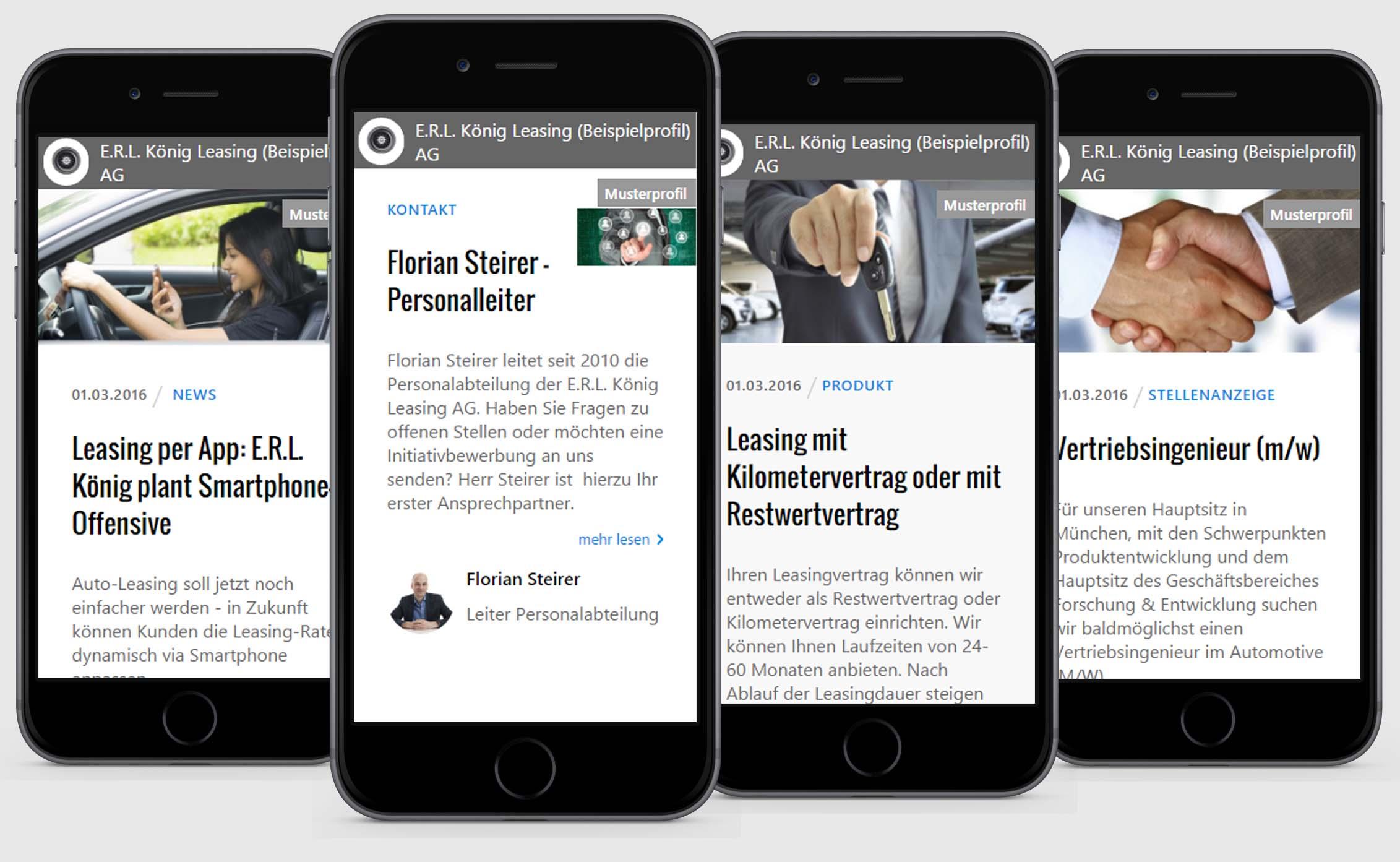 Produkte, Kontakte, News und Stellenanzeigen
