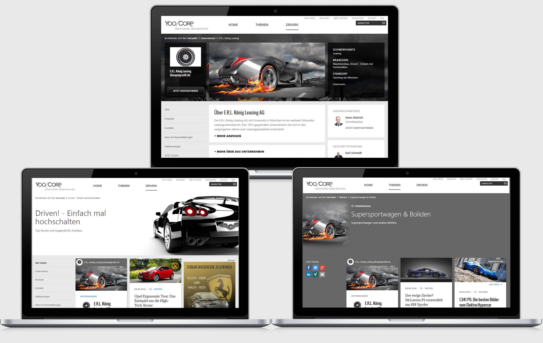 Ein Unternehmen – mehrere Profile
